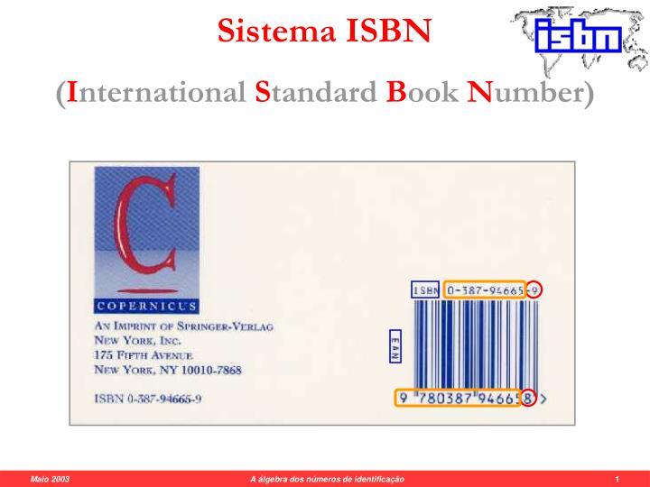 Sistema ISBN