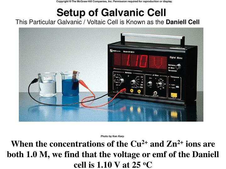 This Particular Galvanic / Voltaic Cell is Known as the
