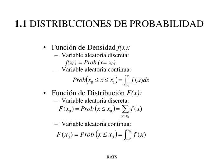 1 1 distribuciones de probabilidad