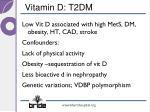 vitamin d t2dm
