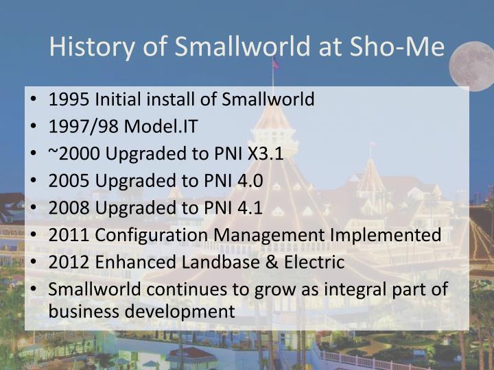 History of Smallworld at Sho-Me