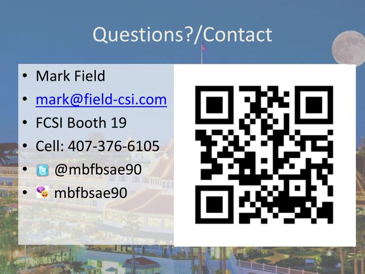 Questions?/Contact