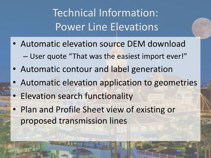 Technical Information: