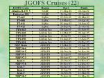 jgofs cruises 22