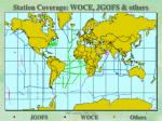 station coverage woce jgofs others
