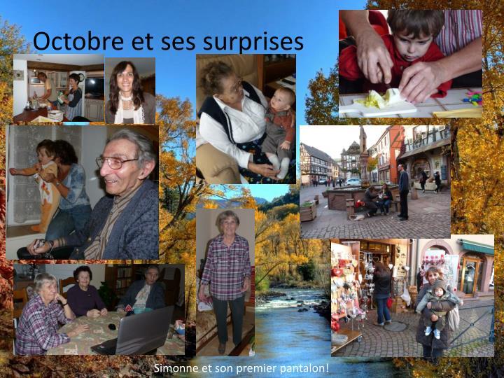 Octobre et ses surprises