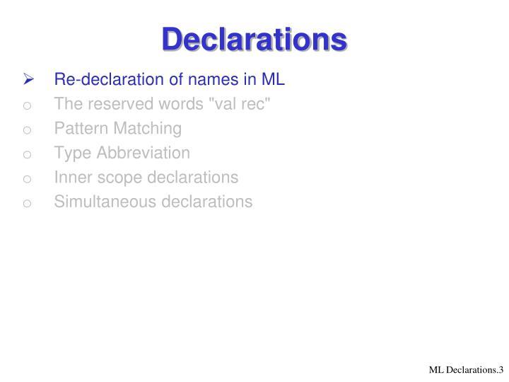 Declarations1