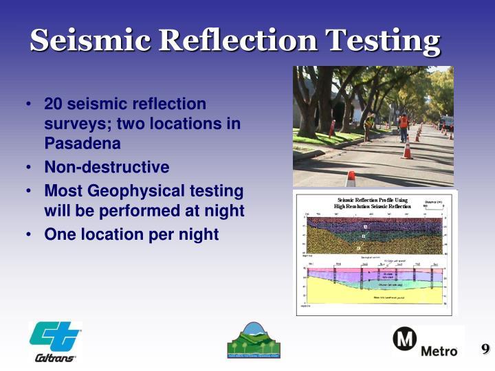 Seismic Reflection Testing