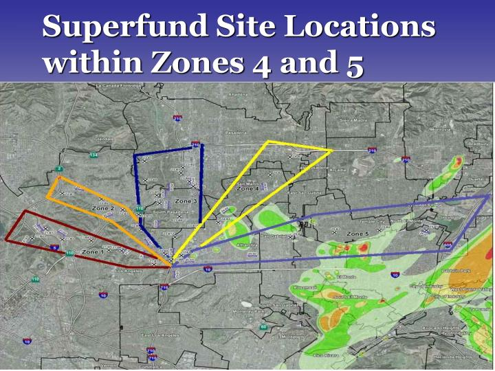 Superfund Site Locations within Zones 4 and 5