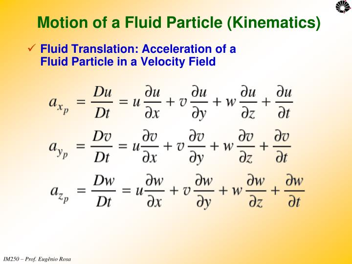Motion of a Fluid Particle (Kinematics)