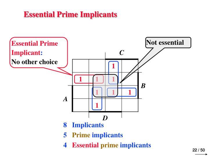 Essential Prime Implicants
