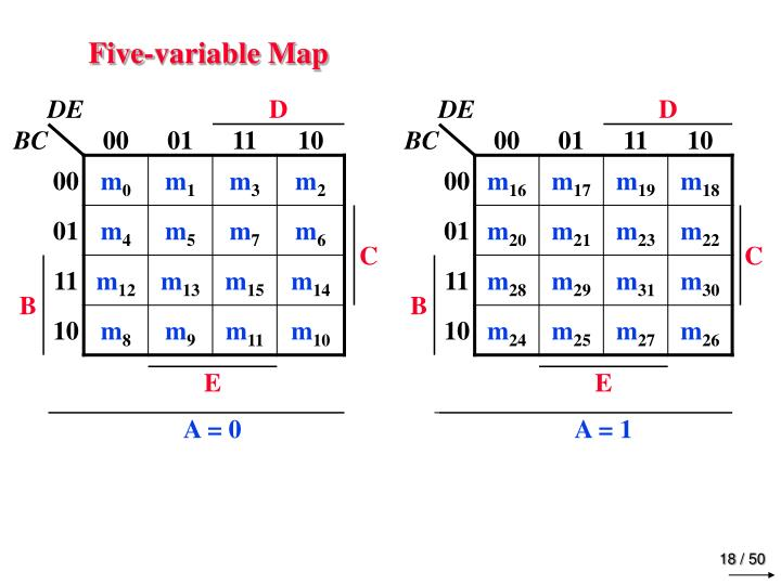 Five-variable Map