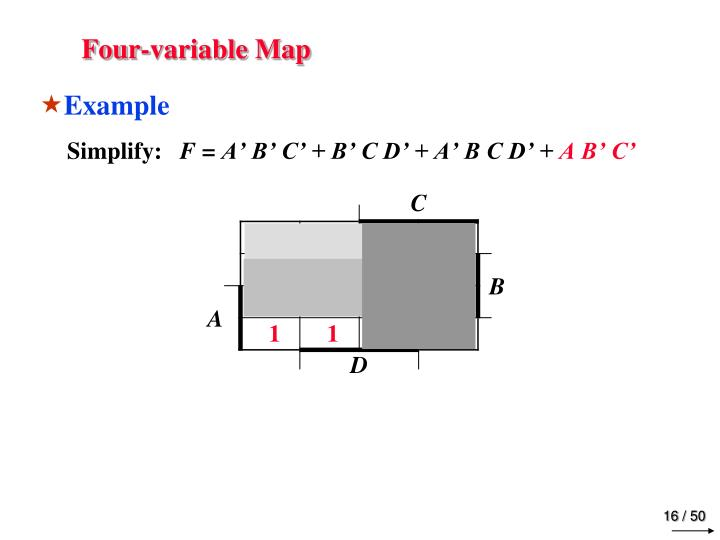 Four-variable Map