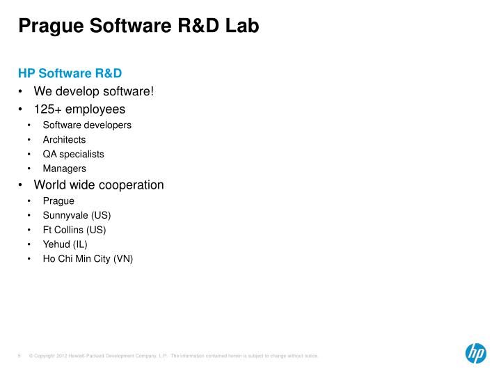 Prague Software R&D Lab