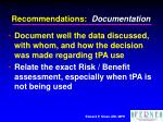 recommendations documentation1