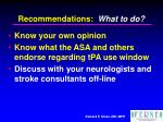 recommendations what to do2