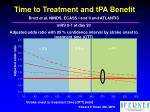 time to treatment and tpa benefit