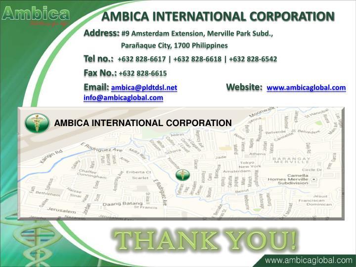 AMBICA INTERNATIONAL CORPORATION