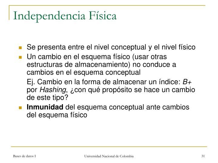 Independencia Física