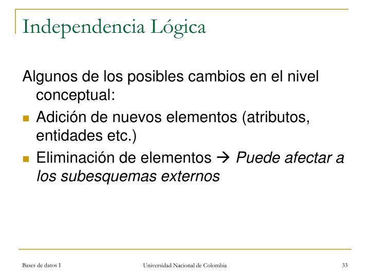 Independencia Lógica