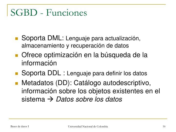 SGBD - Funciones