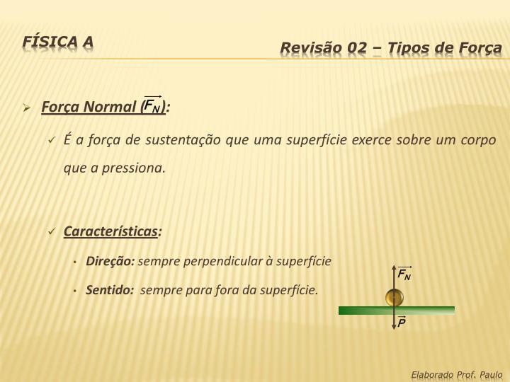 Força Normal (    )
