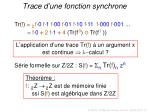 trace d une fonction synchrone