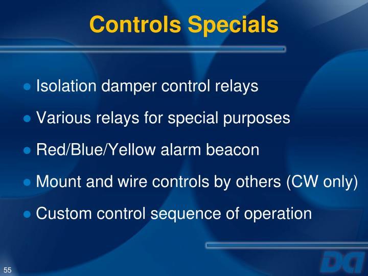 Controls Specials