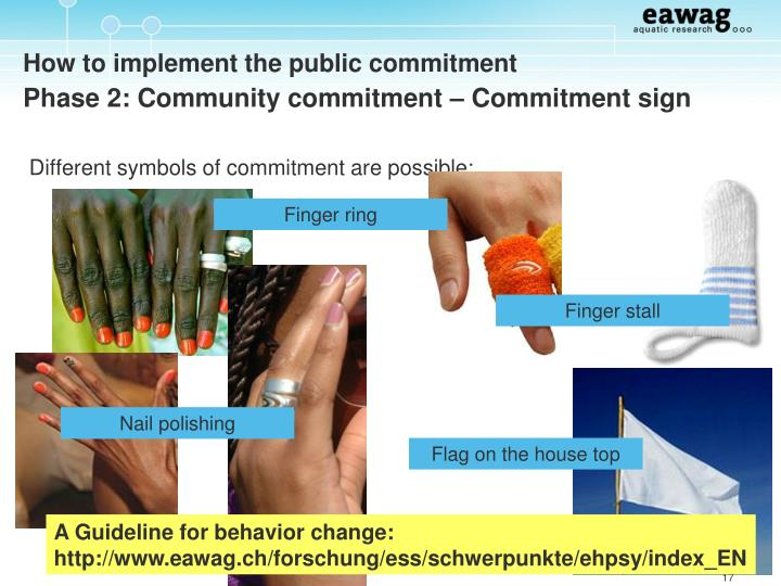 Different symbols of commitment are possible: