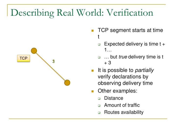 Describing Real World: Verification