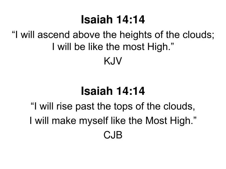 Isaiah 14:14
