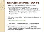 recruitment plan aa 021