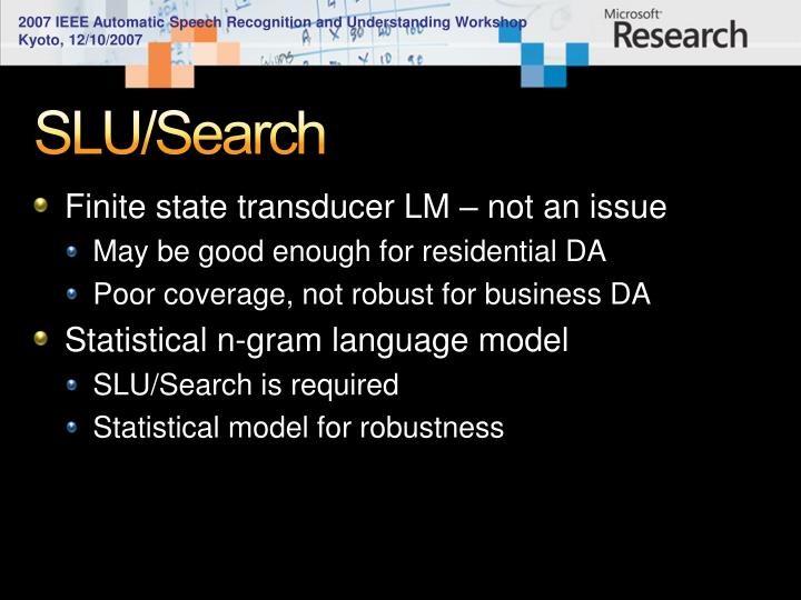 SLU/Search