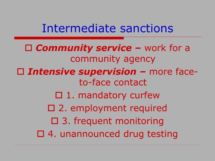 Intermediate sanctions