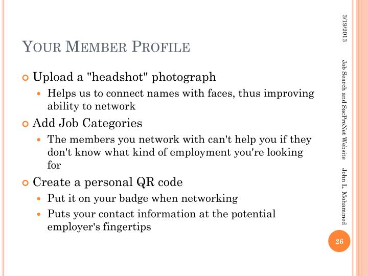 Your Member Profile