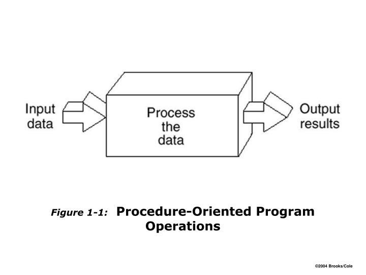 Figure 1 1 procedure oriented program operations