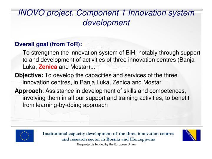 Inovo project component 1 innovation system development