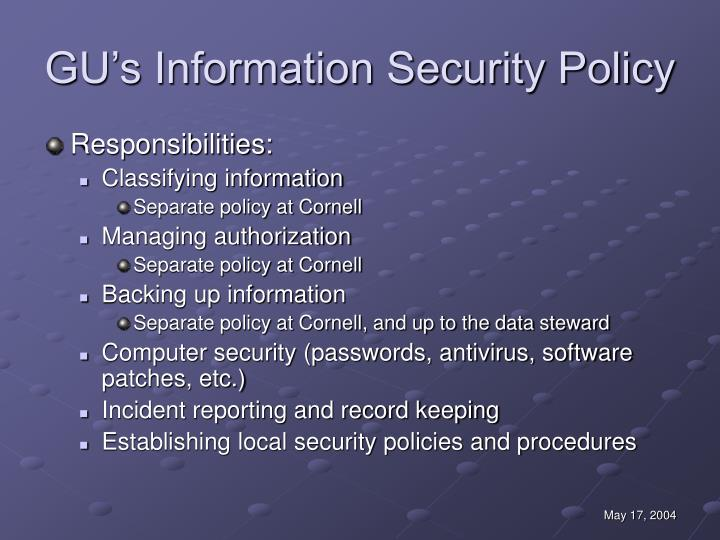 GU's Information Security Policy