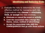 identifying and reducing risks2