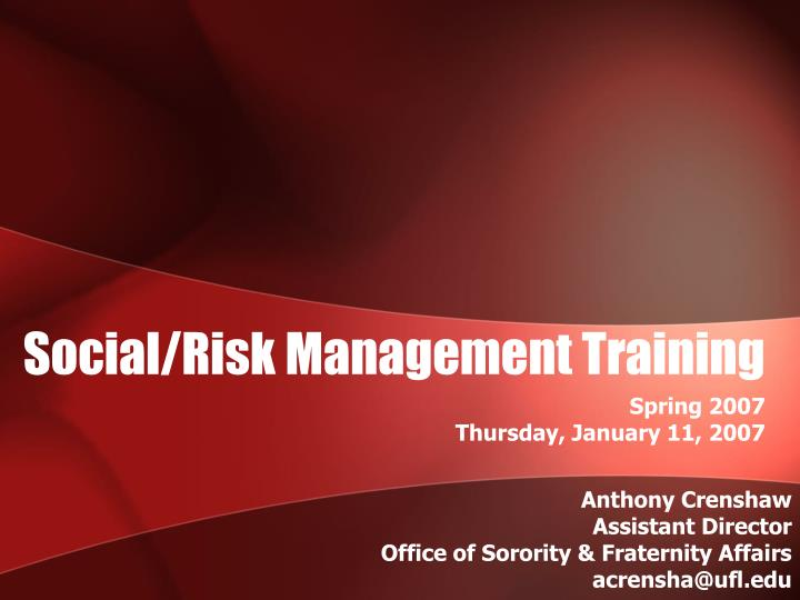 social risk management training