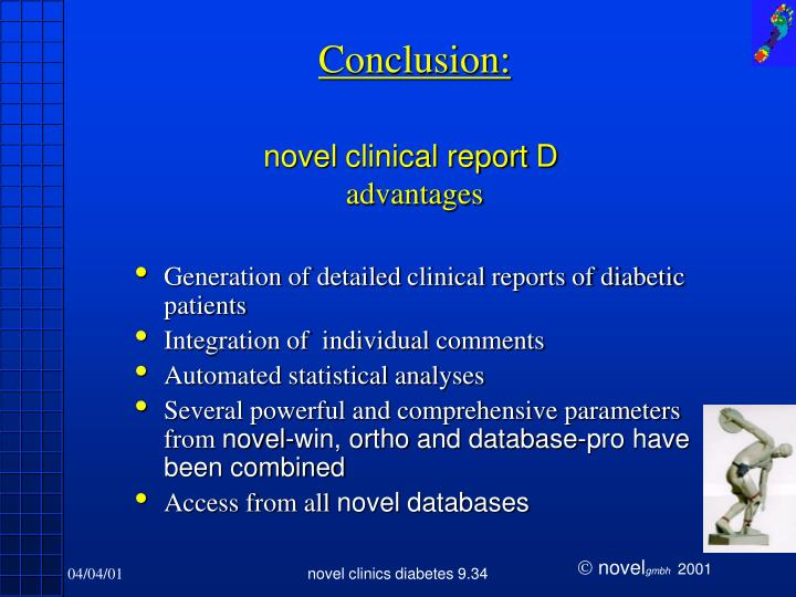 Generation of detailed clinical reports of diabetic patients