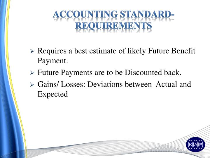 Accounting Standard-requirements