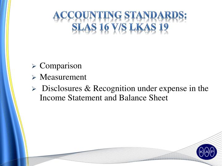 ACCOUNTING STANDARDS: