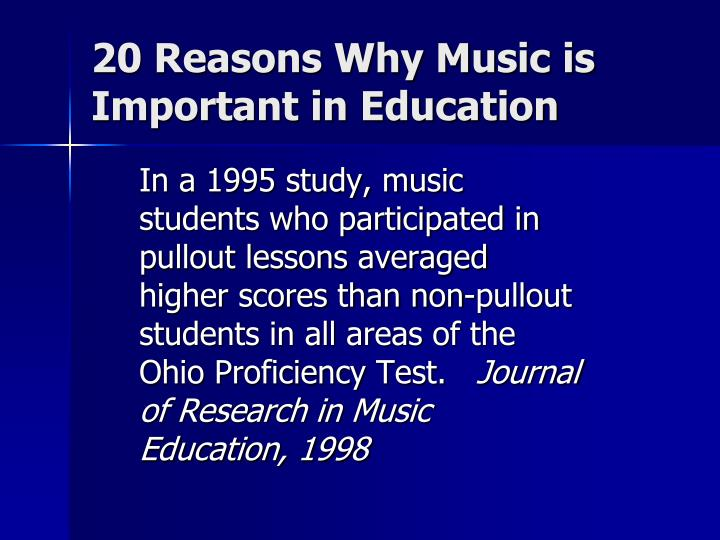 20 reasons why music is important in education1
