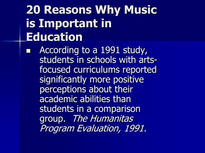 20 Reasons Why Music is Important in Education