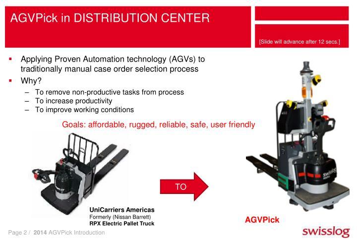 Agvpick in distribution center