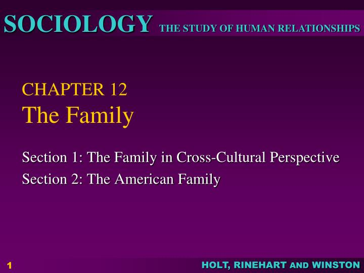 chapter 12 the family n.