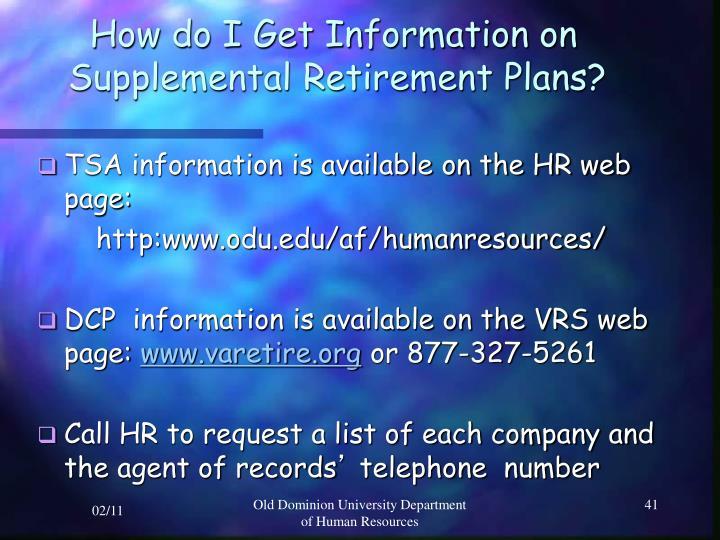 How do I Get Information on