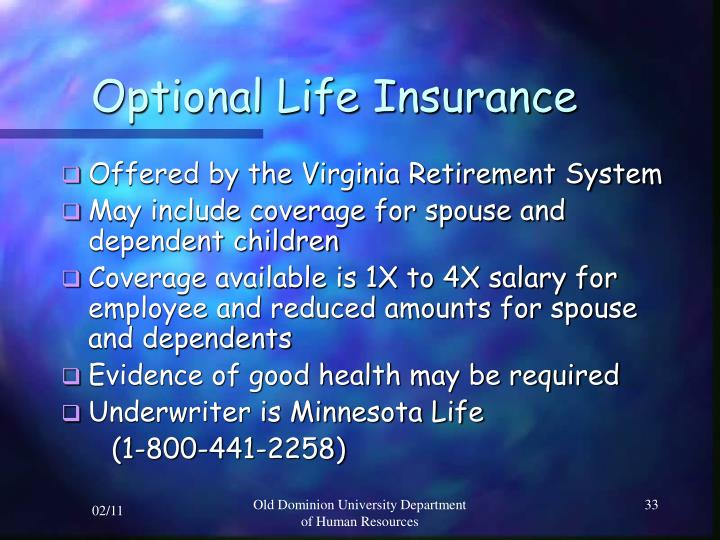 Optional Life Insurance