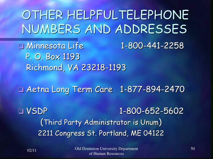 OTHER HELPFULTELEPHONE